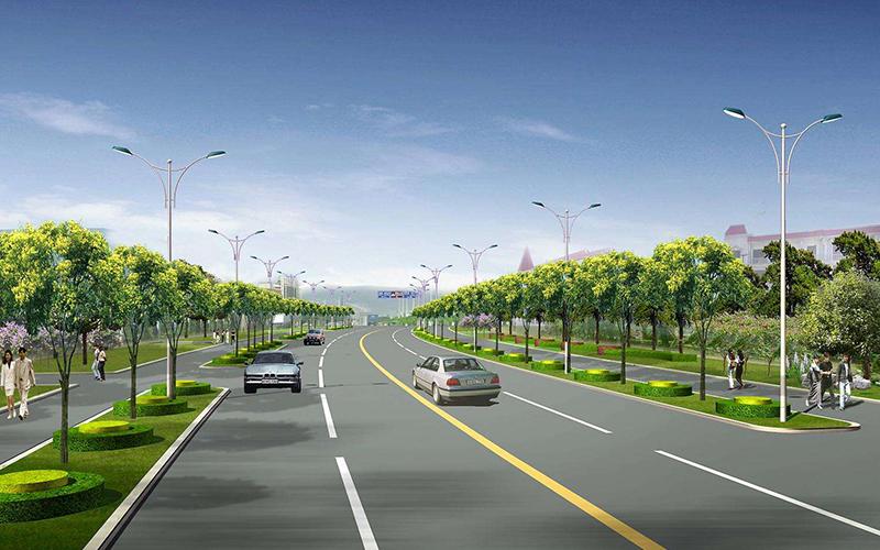 高陵县六号路两侧绿化带外生产路及防护工程